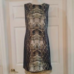 Vince Camuto snakeskin print dress
